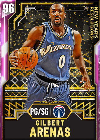 '08 Gilbert Arenas pinkdiamond card
