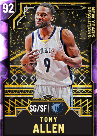 Tony Allen amethyst card
