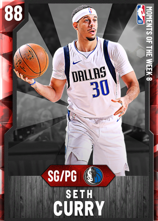 Seth Curry ruby card