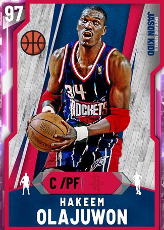 '94 Hakeem Olajuwon pinkdiamond card