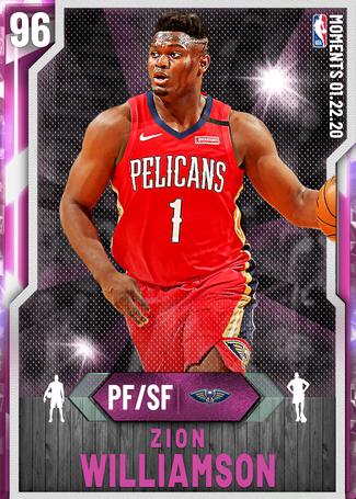 Zion Williamson pinkdiamond card