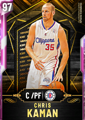 '06 Chris Kaman pinkdiamond card