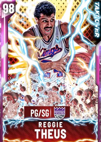'91 Reggie Theus pinkdiamond card