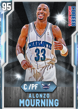 '00 Alonzo Mourning diamond card