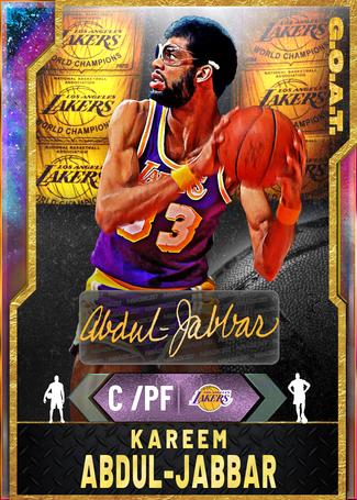 '89 Kareem Abdul-Jabbar opal card