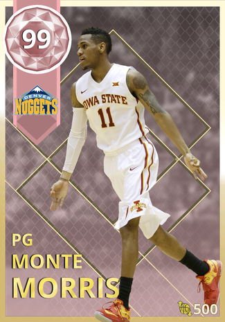 buy online bf02c 8f887 Monte Morris - NBA 2K18 Custom Card - 2KMTCentral