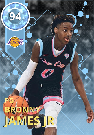 buy online 6e1fe 73ba3 Bronny James Jr - NBA 2K18 Custom Card - 2KMTCentral