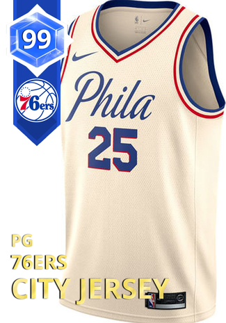 3e460b0741b 76ers City Jersey - NBA 2K18 Custom Card - 2KMTCentral