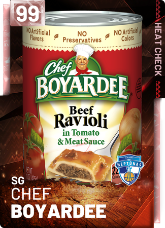 Chef Boyardee - NBA 2K19 Custom Card - 2KMTCentral