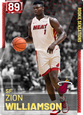 Zion Williamson Nba 2k19 Custom Card 2kmtcentral