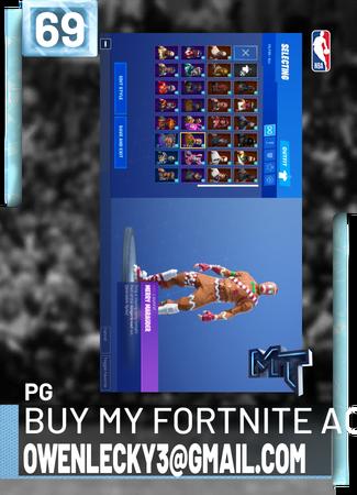 buy my fortnite account owenlecky3@gmail com - NBA 2K19 Custom Card