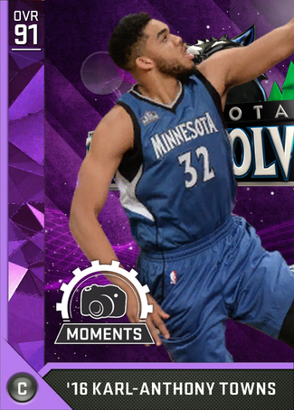 '16 Karl-Anthony Towns amethyst card