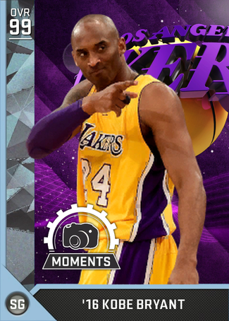 '16 Kobe Bryant diamond card