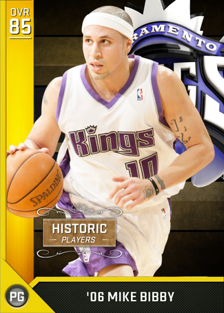 '06 Mike Bibby gold card