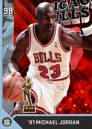 '91 Michael Jordan diamond card