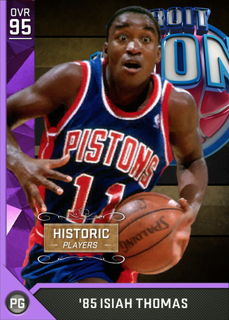 '85 Isiah Thomas amethyst card