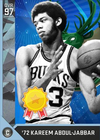 '72 Kareem Abdul-Jabbar diamond card