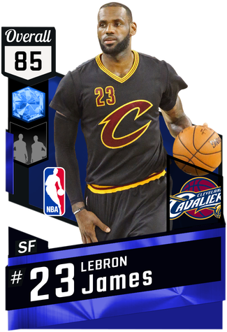 LeBron James sapphire card