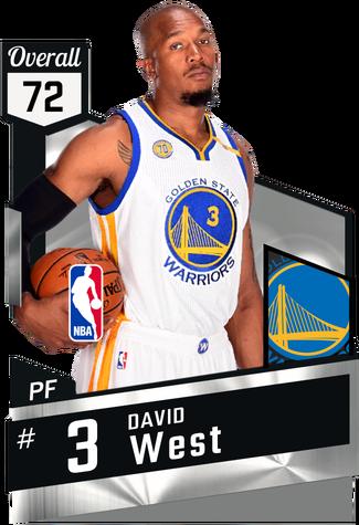 David West silver card