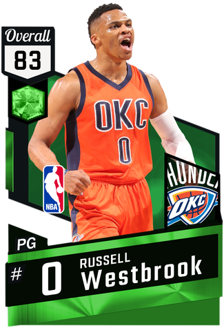Russell Westbrook emerald card