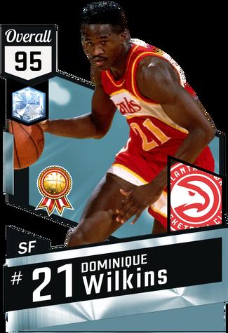 '86 Dominique Wilkins diamond card