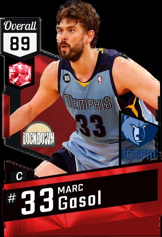 '12 Marc Gasol ruby card