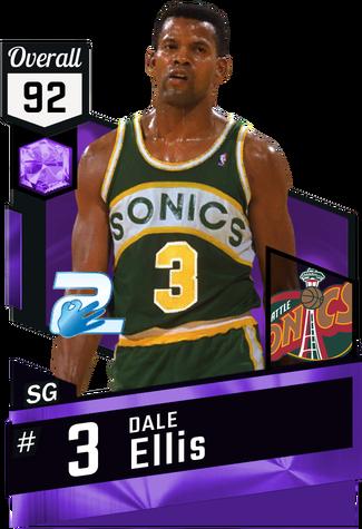 '94 Dale Ellis amethyst card