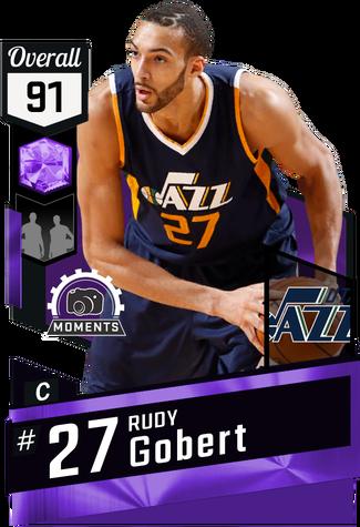 Rudy Gobert amethyst card