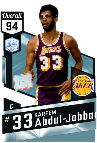 '83 Kareem Abdul-Jabbar diamond card