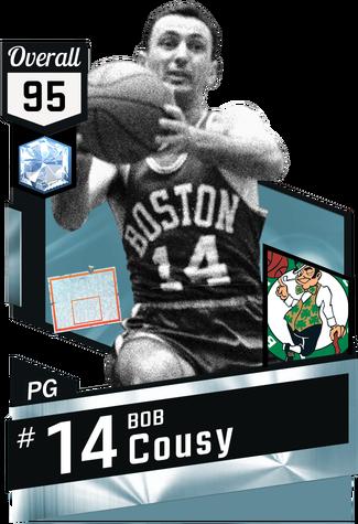 '57 Bob Cousy diamond card