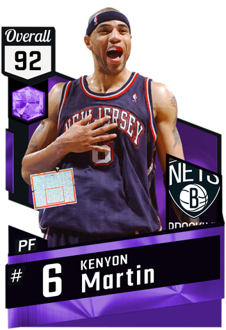 '04 Kenyon Martin amethyst card
