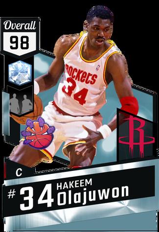 '94 Hakeem Olajuwon diamond card