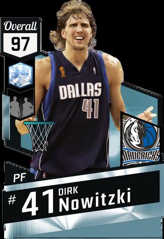'06 Dirk Nowitzki diamond card