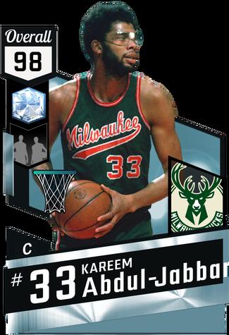 '71 Kareem Abdul-Jabbar diamond card