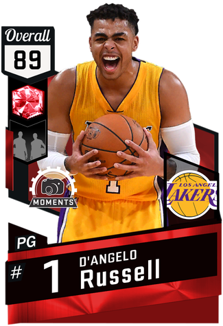 D'Angelo Russell ruby card