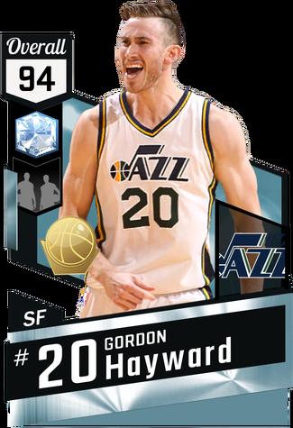 Gordon Hayward diamond card