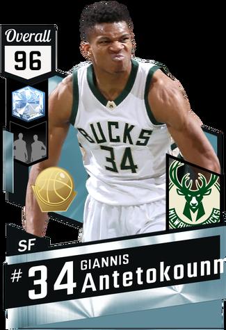 Giannis Antetokounmpo diamond card