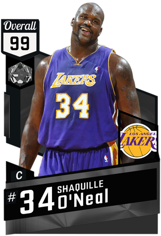 '01 Shaquille O'Neal onyx card