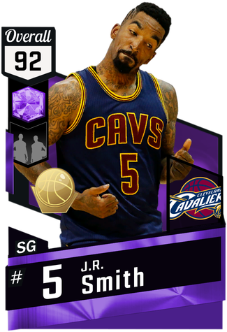 '15 J.R. Smith amethyst card