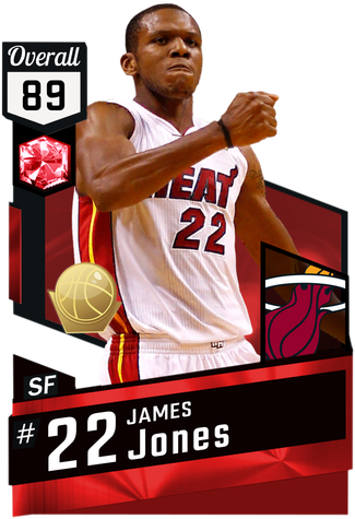 '11 James Jones ruby card