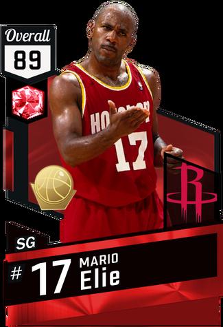 '95 Mario Elie ruby card