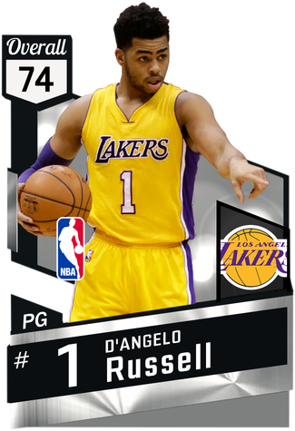 D'Angelo Russell silver card