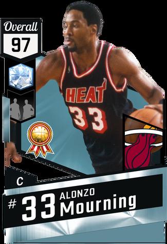 '00 Alonzo Mourning diamond card