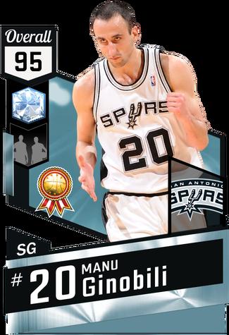 '08 Manu Ginobili diamond card