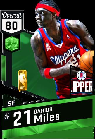 '02 Darius Miles emerald card