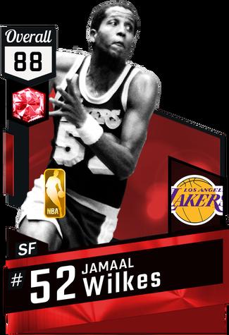 '81 Jamaal Wilkes ruby card