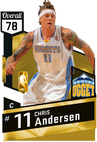 '13 Chris Andersen gold card