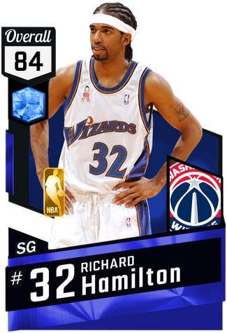 '04 Richard Hamilton sapphire card