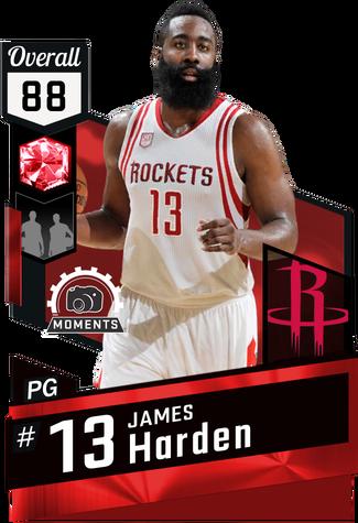 James Harden ruby card