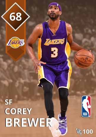 Corey Brewer bronze card